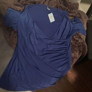 Torrid Royal Blue Cold shoulder top (NWT)